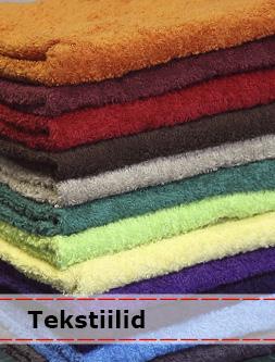 Froteerätikud erinevate mõõtude ja värvidega