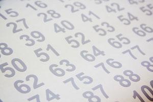 Kleebiskilest numbrid