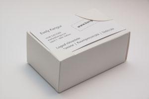 trükitud viiitkaardid karbis